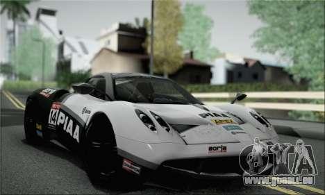 Pagani Huayra TT Ultimate Edition pour GTA San Andreas vue de côté