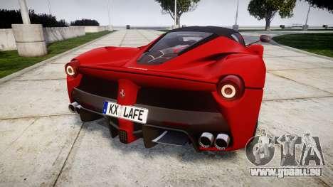 Ferrari LaFerrari 2014 [EPM] pour GTA 4 Vue arrière de la gauche
