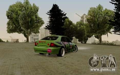 Toyota Altezza Toy Sport pour GTA San Andreas sur la vue arrière gauche