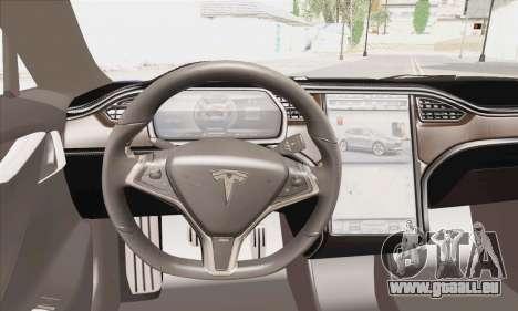 Tesla Model S 2014 pour GTA San Andreas sur la vue arrière gauche