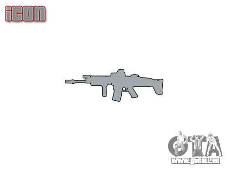 La Machine FN SCAR-L Mc 16 icon1 pour GTA 4 troisième écran
