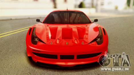 Ferrari 62 F458 2011 pour GTA San Andreas vue de droite