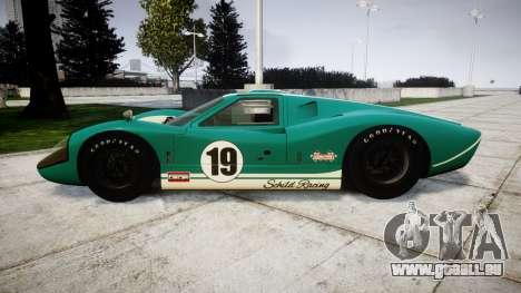 Ford GT40 Mark IV 1967 PJ Schila Racing 19 pour GTA 4 est une gauche