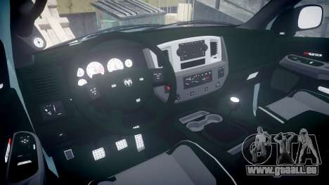 Dodge Ram pour GTA 4 Vue arrière