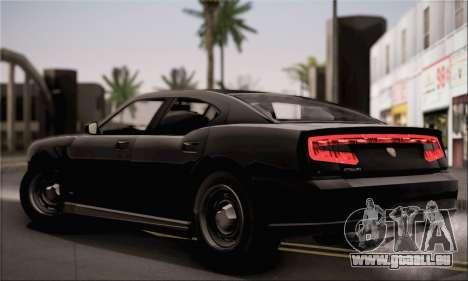 Bravado Buffalo S FIB pour GTA San Andreas sur la vue arrière gauche