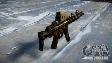 Pistolet MP5SD EOTHS CS c cible pour GTA 4 secondes d'écran