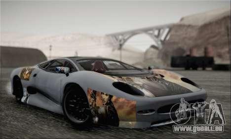 Jaguar XJ220S Ultimate Edition pour GTA San Andreas vue arrière