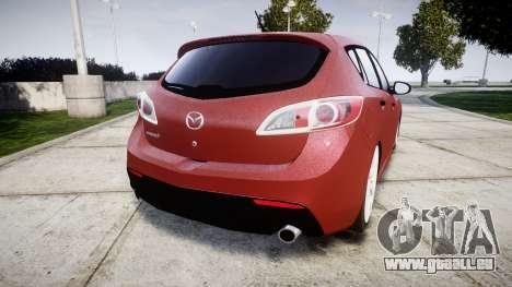 Mazda 3 MPS pour GTA 4 Vue arrière de la gauche