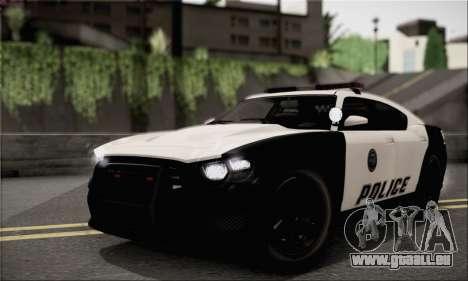 Bravado Buffalo S Police Edition (HQLM) pour GTA San Andreas vue de droite