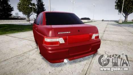 ВАЗ-2110 Bogdan rims2 pour GTA 4 Vue arrière de la gauche