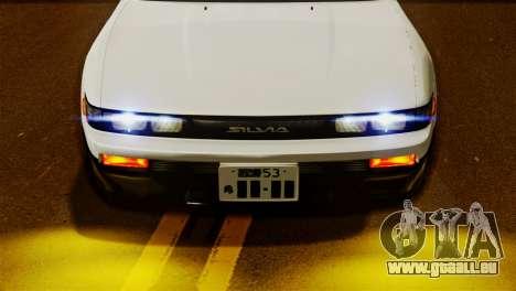 Nissan Silvia S13 1992 IVF für GTA San Andreas zurück linke Ansicht
