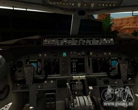 Boeing P-8 Poseidon US Navy für GTA San Andreas Innen