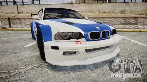 BMW M3 E46 GTR Most Wanted plate NFS MW pour GTA 4
