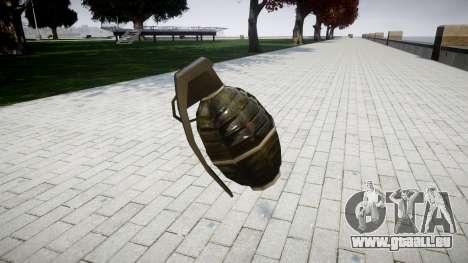 Grenade HD pour GTA 4 secondes d'écran