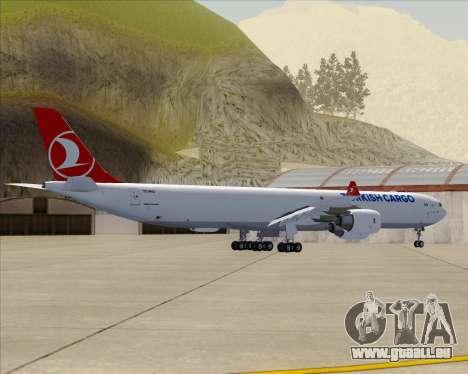 Airbus A340-600 Turkish Cargo pour GTA San Andreas vue arrière