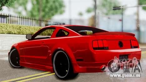 Ford Mustang GT 2012 für GTA San Andreas linke Ansicht
