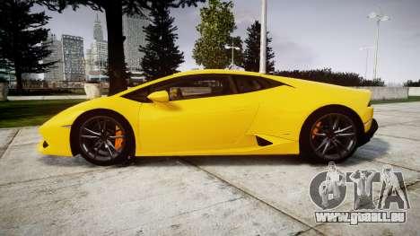 Lamborghini Huracan LP610-4 pour GTA 4 est une gauche