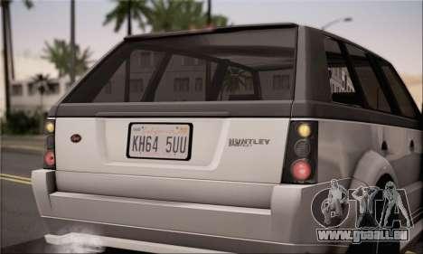 Vapid Huntley für GTA San Andreas zurück linke Ansicht