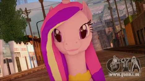 Cadence from My Little Pony pour GTA San Andreas troisième écran