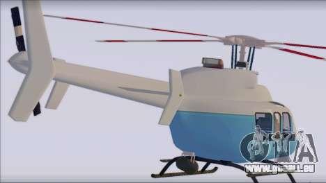 Bell 407 pour GTA San Andreas laissé vue