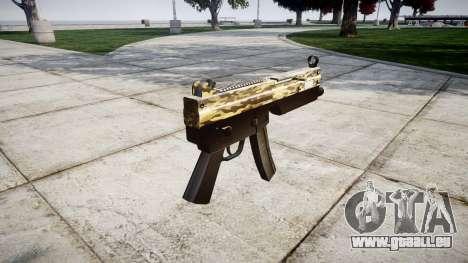 Pistolet mitrailleur MP5 Désert pour GTA 4 secondes d'écran