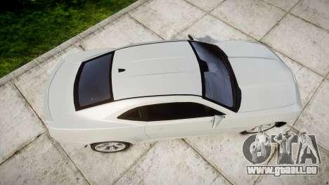 Chevrolet Camaro SS [ELS] Unmarked no side ligh pour GTA 4 est un droit