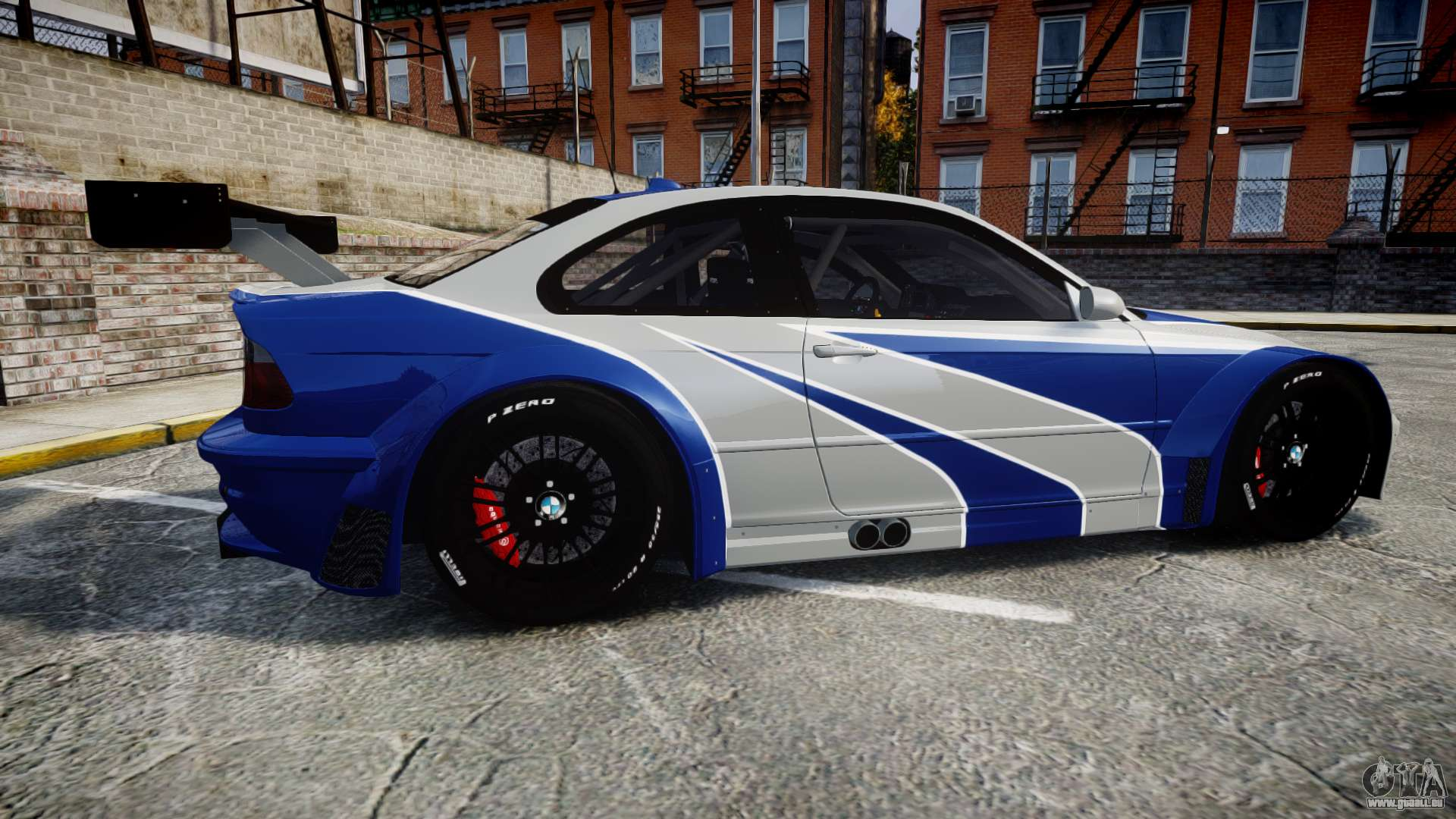bmw m3 e46 gtr most wanted plate nfs mw f r gta 4. Black Bedroom Furniture Sets. Home Design Ideas