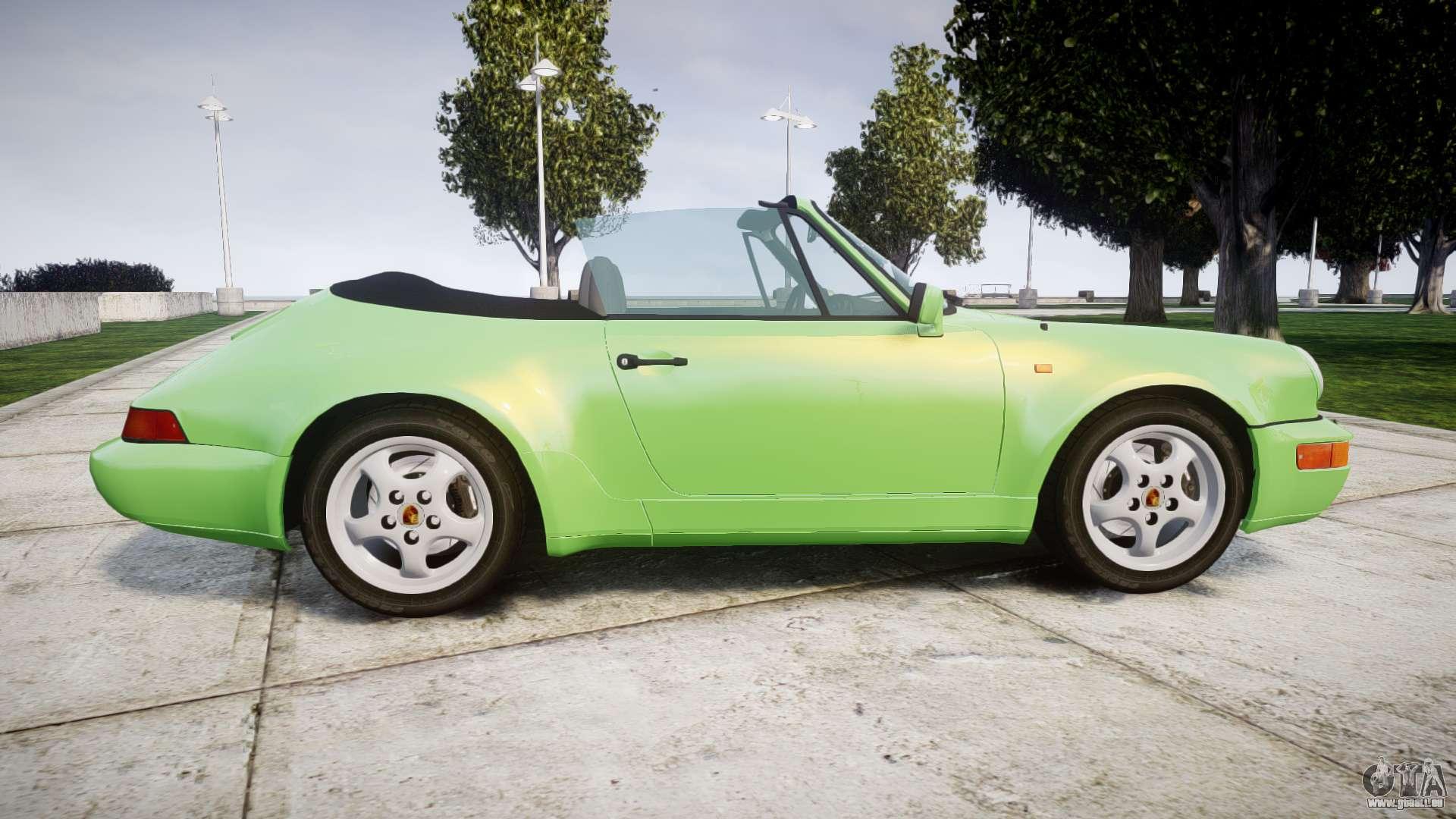 porsche 911 964 cabrio pour gta 4. Black Bedroom Furniture Sets. Home Design Ideas