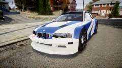 BMW M3 E46 GTR Most Wanted plate NFS ND 4 SPD pour GTA 4