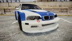 BMW M3 E46 GTR Most Wanted plate NFS MW für GTA 4