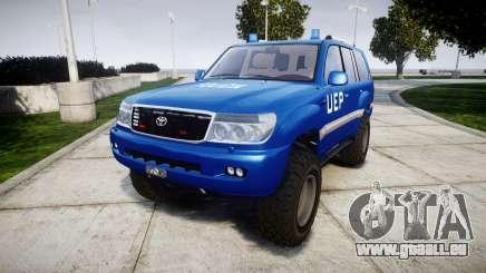 Toyota Land Cruiser 100 UEP blue [ELS] pour GTA 4