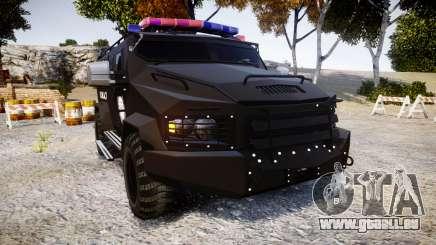SWAT Van Metro Police [ELS] pour GTA 4