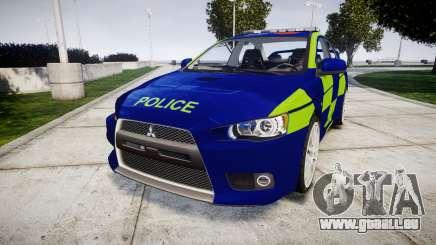 Mitsubishi Lancer Evolution X Police [ELS] für GTA 4