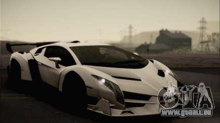 Lamborghini Veneno LP750-4 White Black 2014 für GTA San Andreas