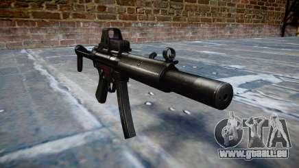 Gun MP5SD EOTHS FS b Ziel für GTA 4