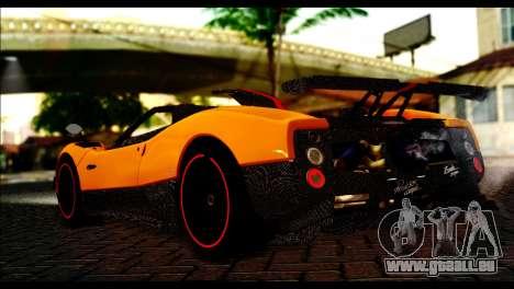Pagani Zonda Cinque Roadster pour GTA San Andreas laissé vue