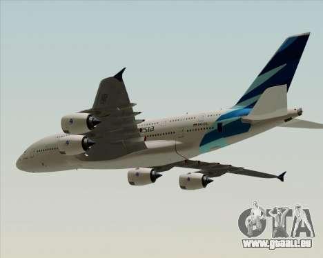 Airbus A380-800 Garuda Indonesia pour GTA San Andreas sur la vue arrière gauche