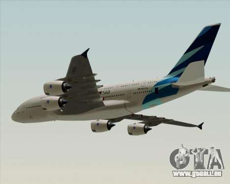 Airbus A380-800 Garuda Indonesia für GTA San Andreas zurück linke Ansicht