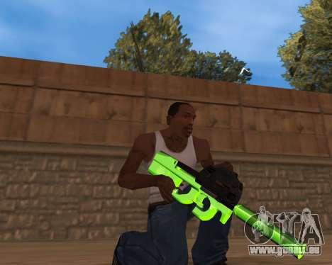 Chrome Green Weapon Pack pour GTA San Andreas troisième écran