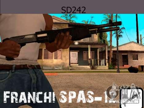 Franchi SPAS-12 pour GTA San Andreas troisième écran