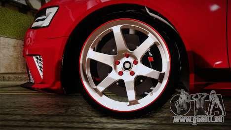 Audi RS4 für GTA San Andreas zurück linke Ansicht