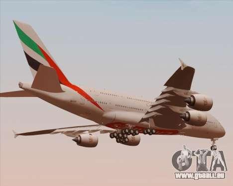 Airbus A380-800 Emirates 40 Anniversary Sticker pour GTA San Andreas vue de dessus