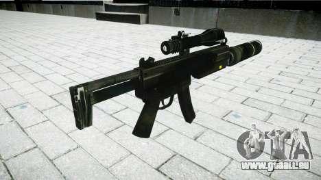 Tactique pistolet mitrailleur MP5 pour GTA 4 secondes d'écran