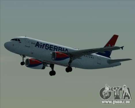 Airbus A319-100 Air Serbia pour GTA San Andreas vue intérieure