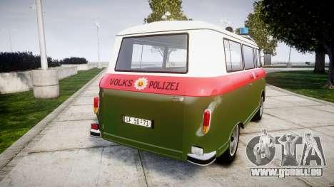 Barkas B1000 1961 Police pour GTA 4 Vue arrière de la gauche