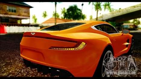 Aston Martin One-77 Black für GTA San Andreas Rückansicht