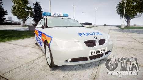 BMW 525d E60 2006 Police [ELS] pour GTA 4