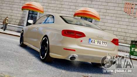 Audi RS4 B8 2013 v1 pour GTA 4 est une gauche