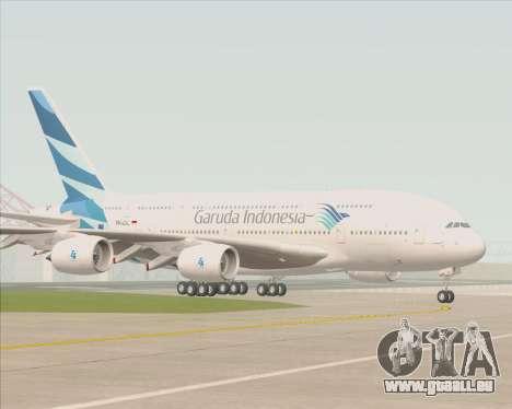 Airbus A380-800 Garuda Indonesia für GTA San Andreas obere Ansicht