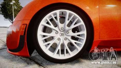 Bugatti Veyron 16.4 SS [EPM] Halloween Special pour GTA 4 Vue arrière